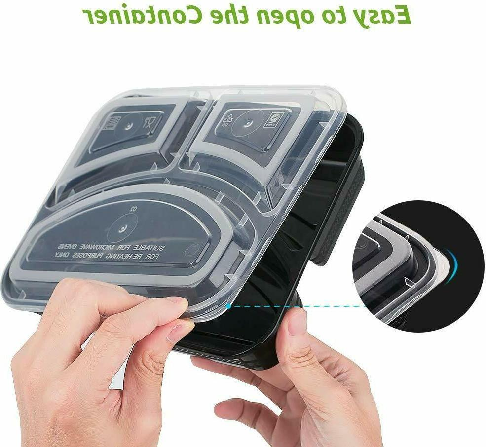 30 Meal Containers Storage Bento Box 3 Free