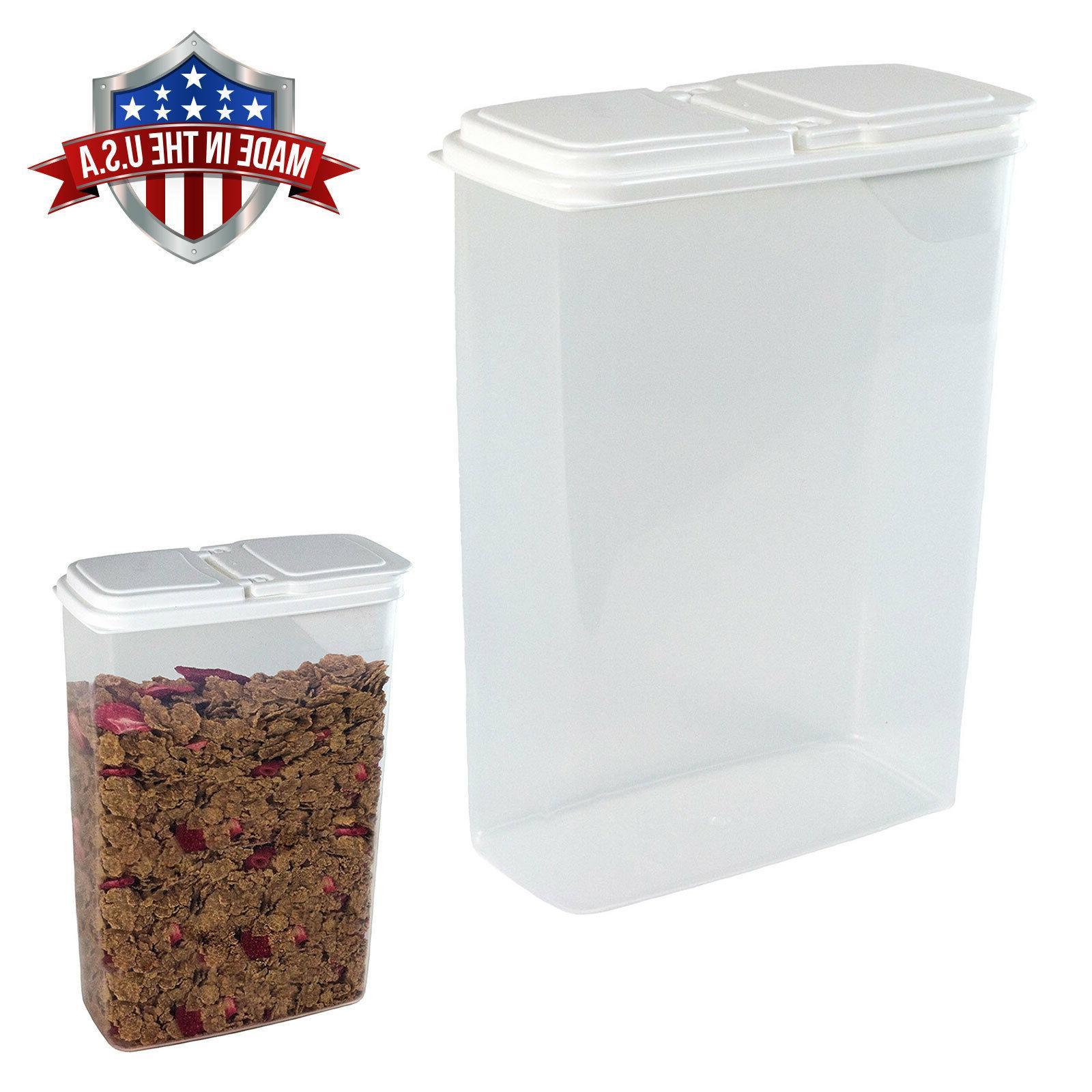 Large 4 Qt Cereal, Snack Keeper Food Storage Dispenser Conta