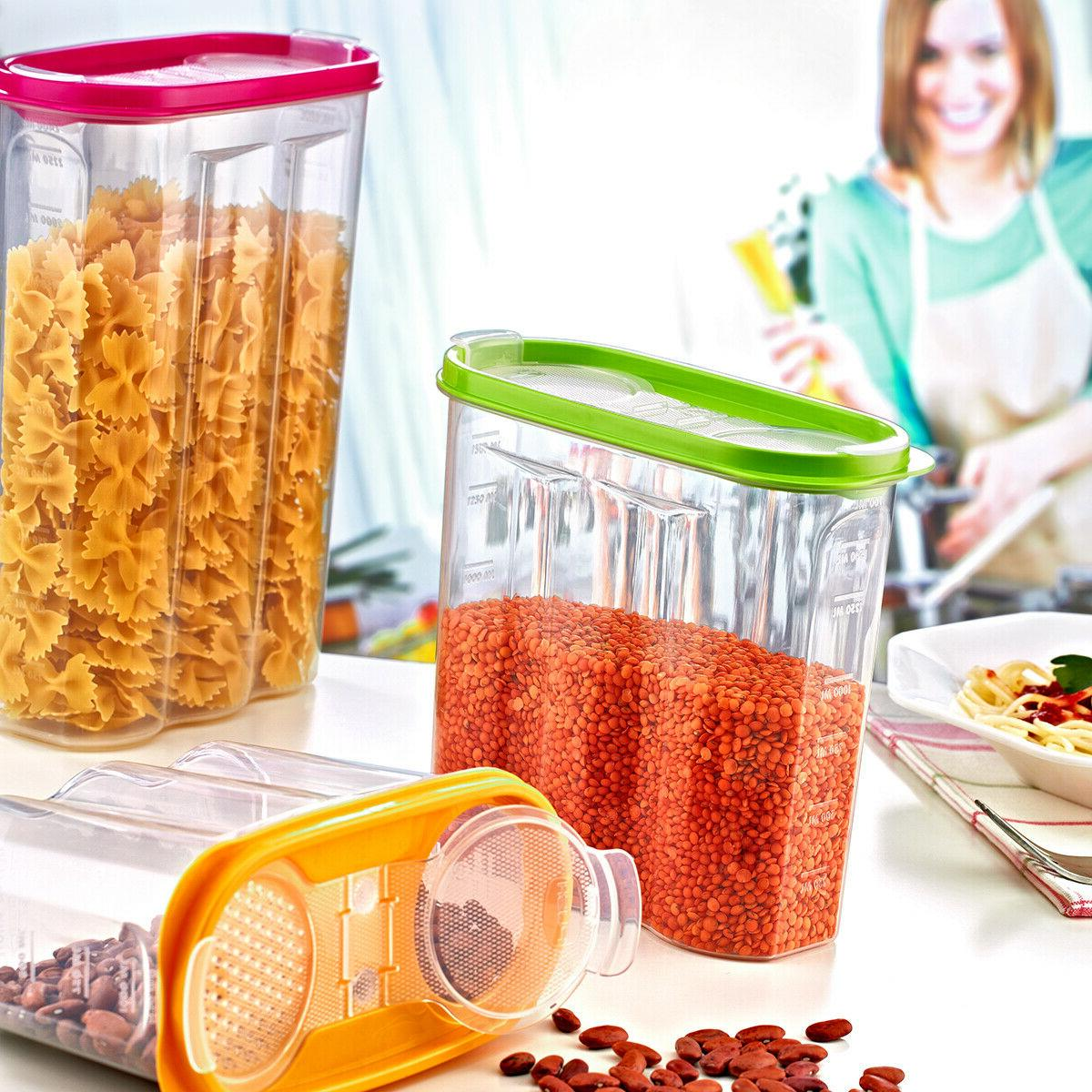 4 Cereal Food Storage Container BPA FREE / FL