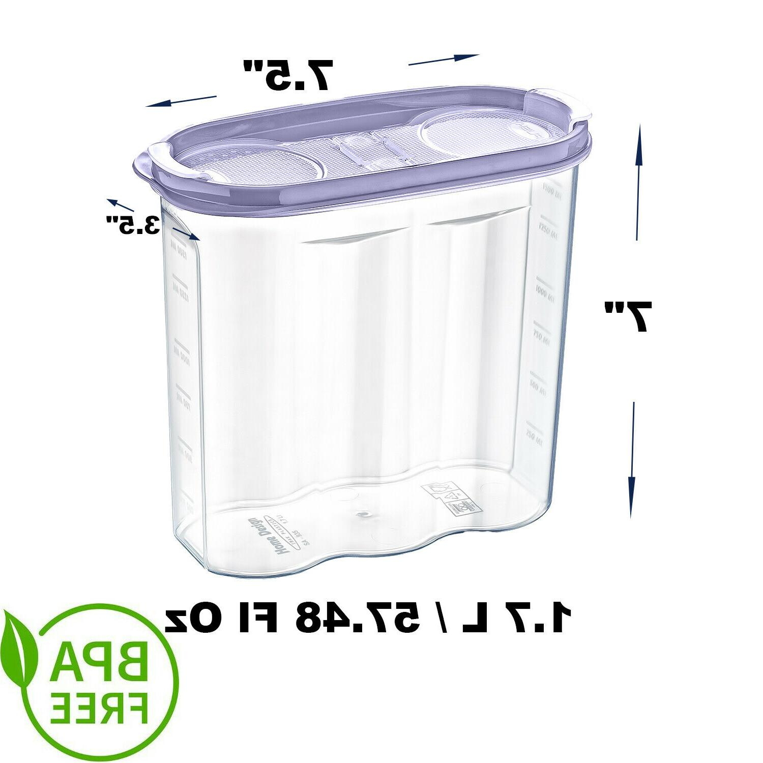 4 x cereal food storage container bpa