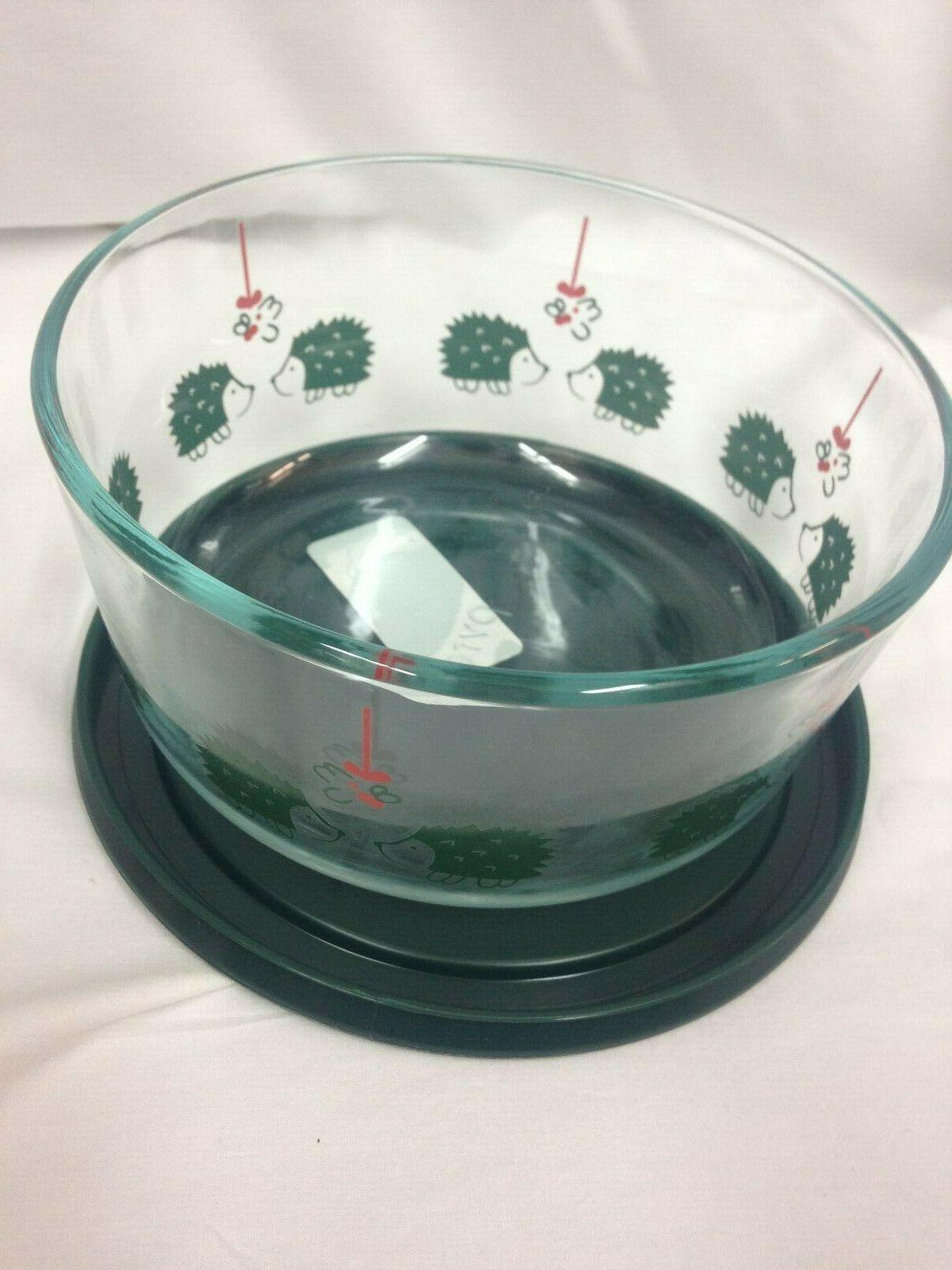Pyrex 4cup Glass Hedgehog Love Green071160116320