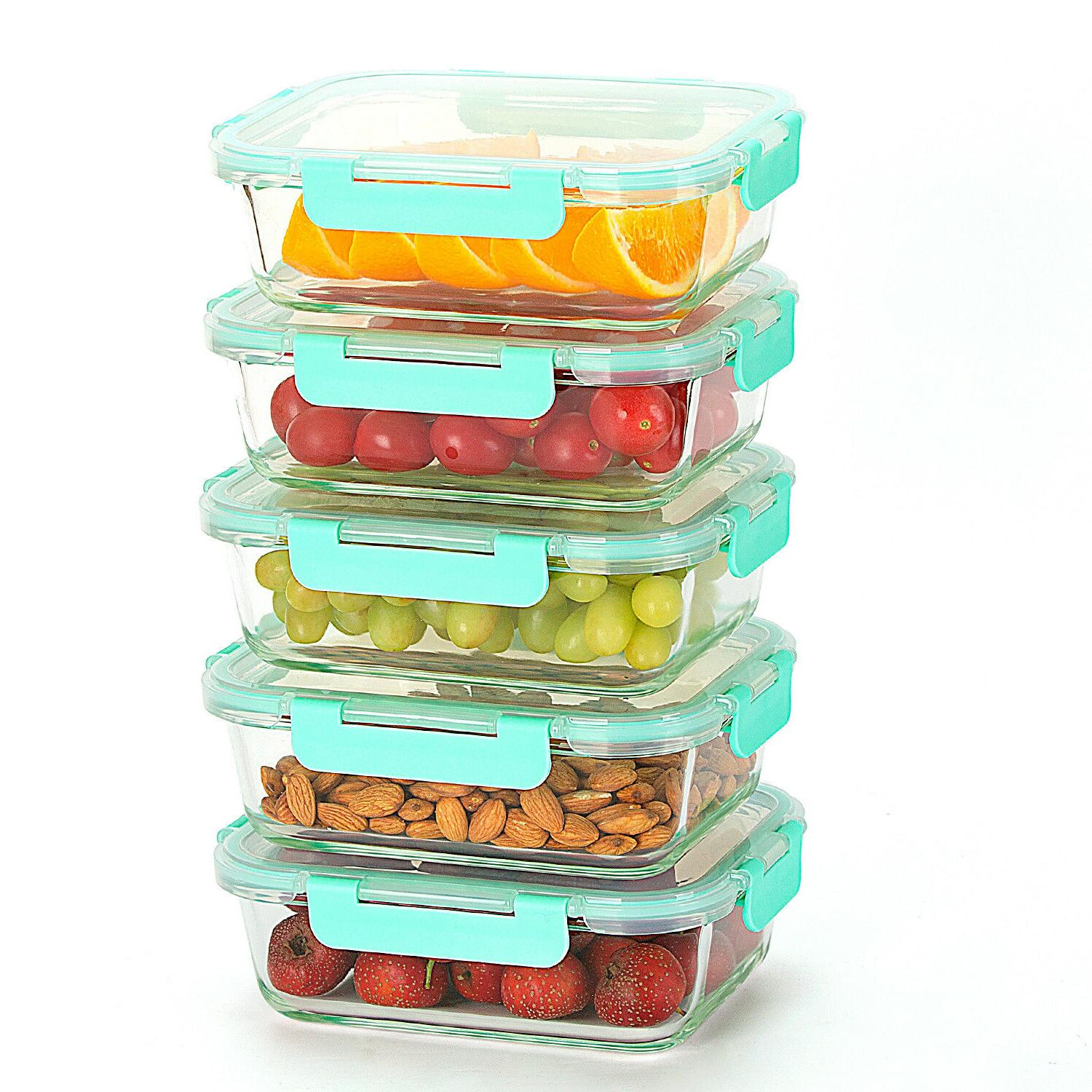 Glass for Food with Lifetime Lids,