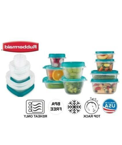 50pc Set Rubbermaid Twist Seal Tupperware Free Safe