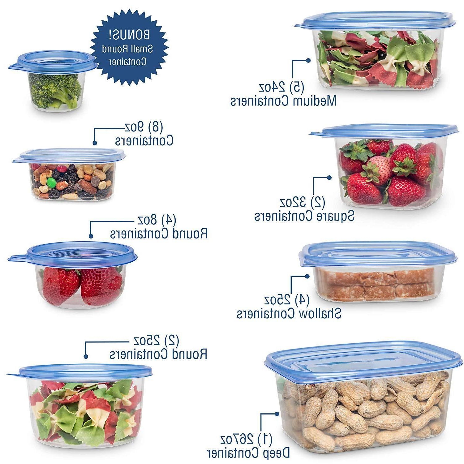 54 Piece Food Container Free Microwave Dishwasher Safe
