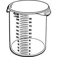 Rubbermaid Commercial 572824CLE Round Storage Containers, 22