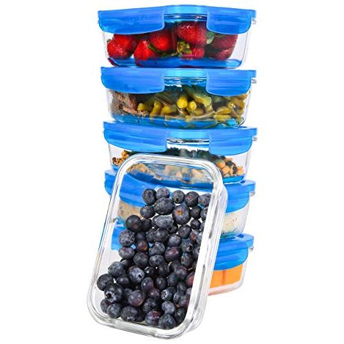 Prep Containers Storage for and Food Prep BPA-Free Lids Elacra
