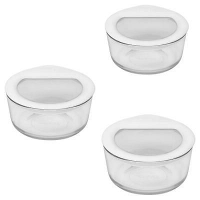 6 piece glass food storage container sets