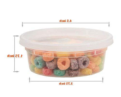 8oz 15sets plastic food storage containers