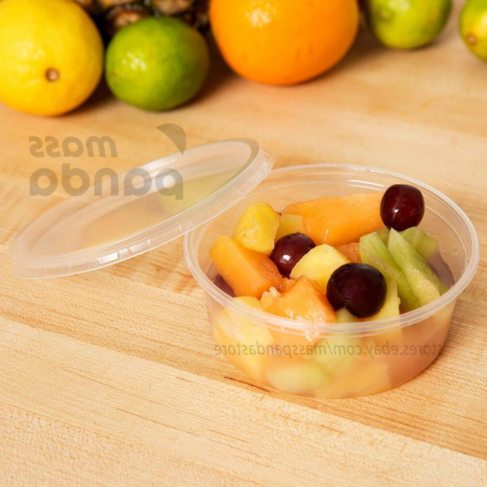 8oz Deli Food/Soup Storage Container Cup Lids