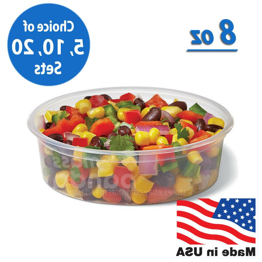 8oz round clear plastic deli food soup