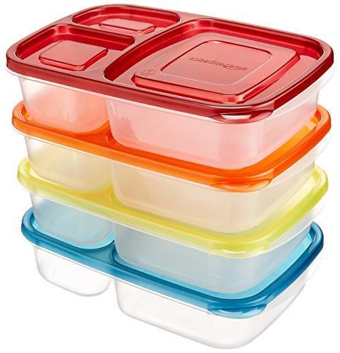 AmazonBasics Bento Lunch Box  Containers - Set of 4