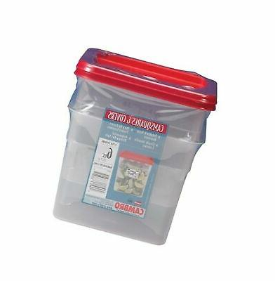 Cambro 6 Quart Translucent Square Food Storage Containers an