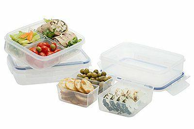 Komax Biokips Meal Prep Containers 3 Compartment | Set-of-3