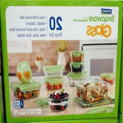 Snapware 20 piece Tempered Glasslock Storage Containers with