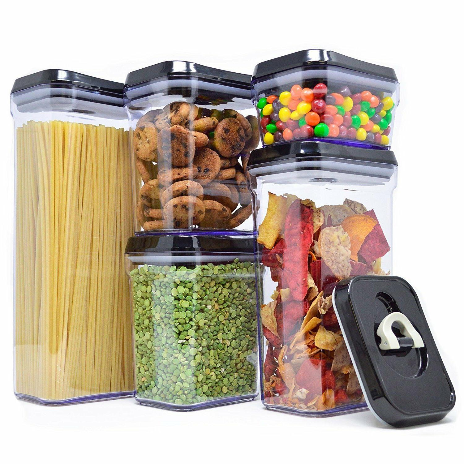 air tight food storage container set durable