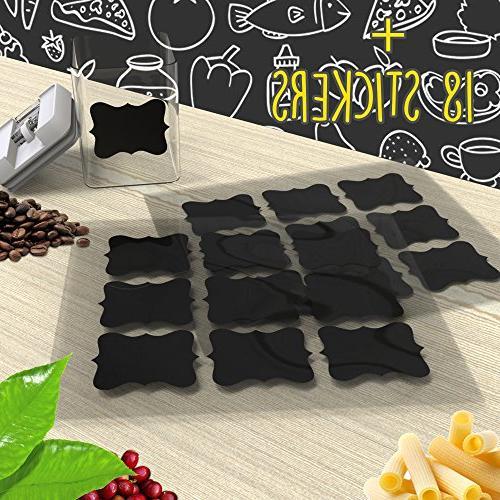 Shazo for 7 Piece 18 Marker - BPA Plastic - Airtight Storage w/White Interchangeable