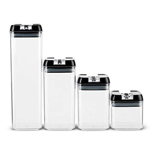 Airtight Storage Set 18 Labels & Marker Duty Free Airtight Clear Plastic Interchangeable