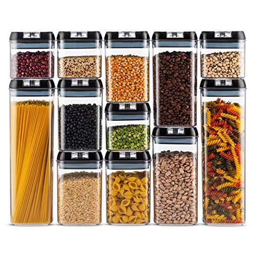 Airtight Food Storage Set of 18 Marker Duty BPA Free Interchangeable Easy