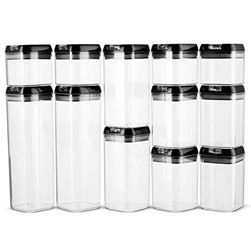 Airtight Food Container Set + 18 Duty Plastic Free Interchangeable Lock
