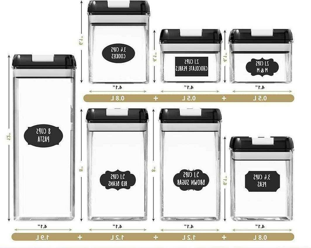 Airtight Storage Container Set PC Set & Marker
