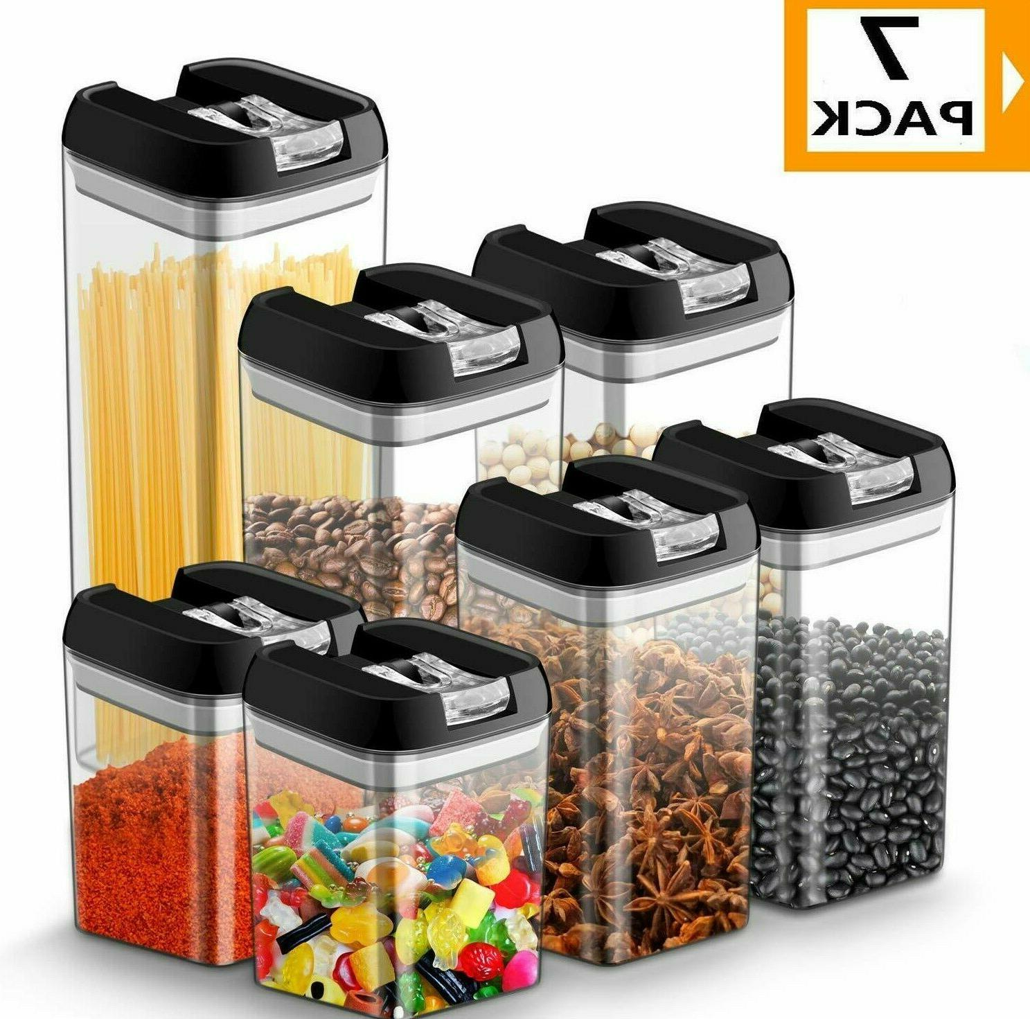 airtight food storage container set 7 pc