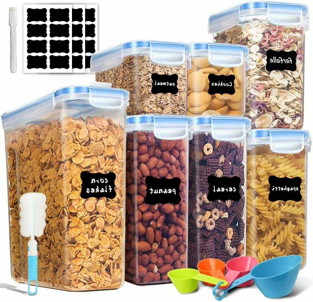 airtight food storage containers kitchen organizer cereal