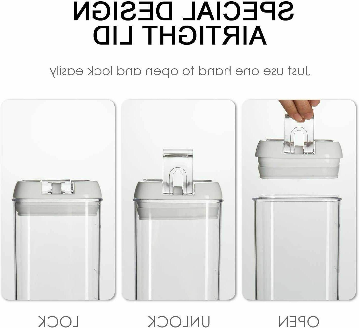 Airtight Food Set, 7 BPA Plastic Cereal