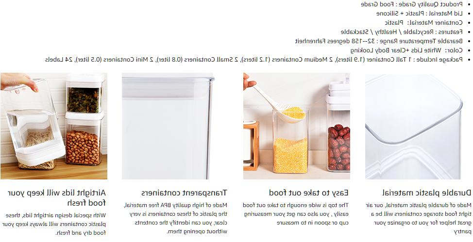 Airtight Set, Pieces BPA