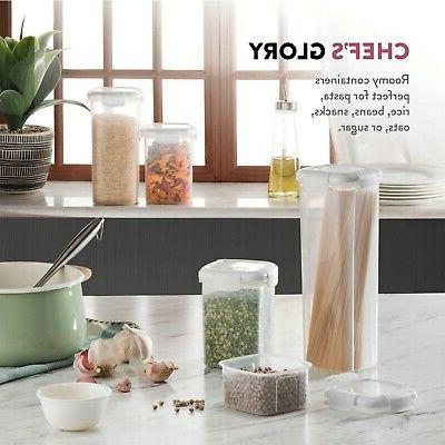 Airtight Food Containers With 5Piece Plastic Pantry