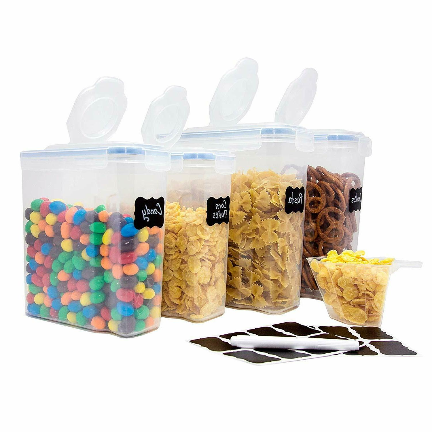 airtight food storage set cereal container set