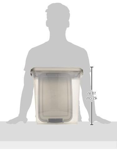 Airtight & Storage Plastic w/Scoop Chrome
