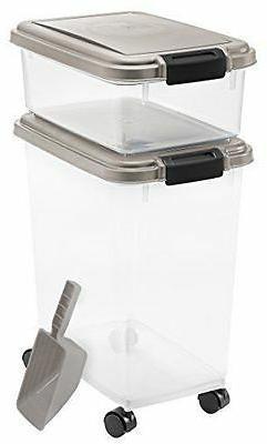 airtight food treat storage plastic