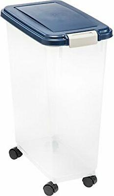 Airtight Pet Food Storage Container For Dry Cat/Dog Food & B
