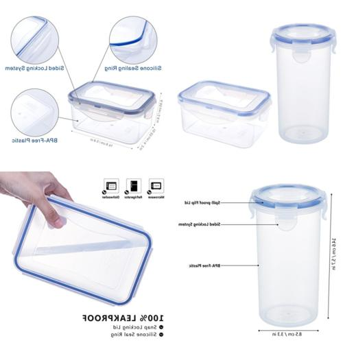 airtight plastic container w lid 20oz baby