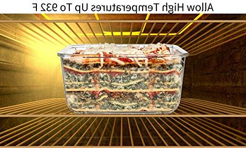Extra Large Glass Food Storage Containers Lid 6 & Free X-Large/Large/Medium Square container
