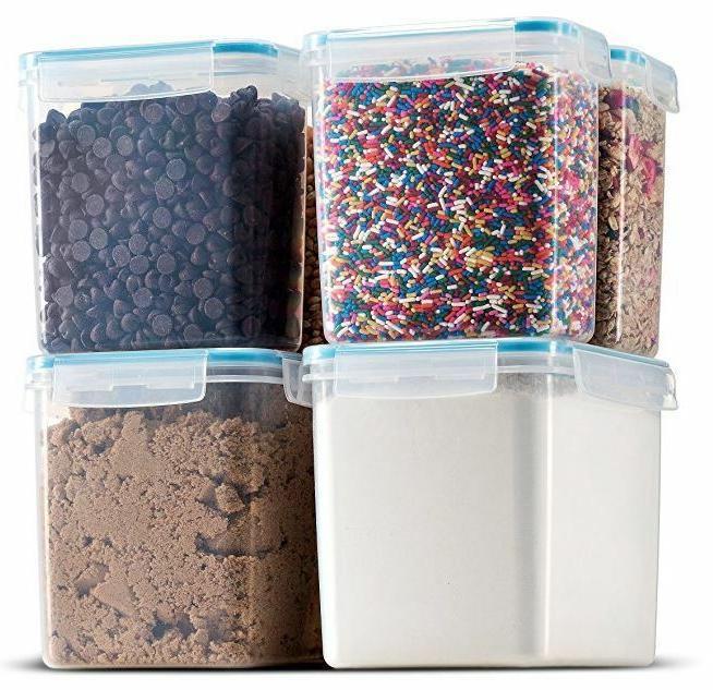 biokips tall large food storage sugar flour