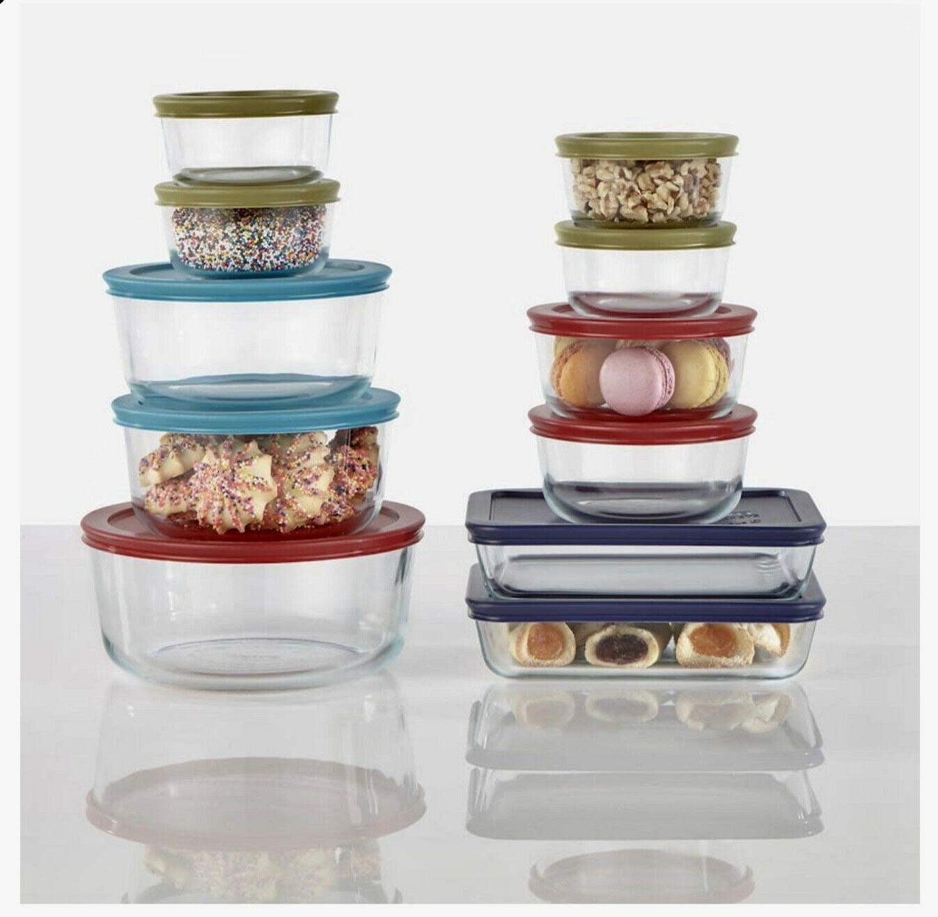BRAND Piece Store Food Storage Container Set glass