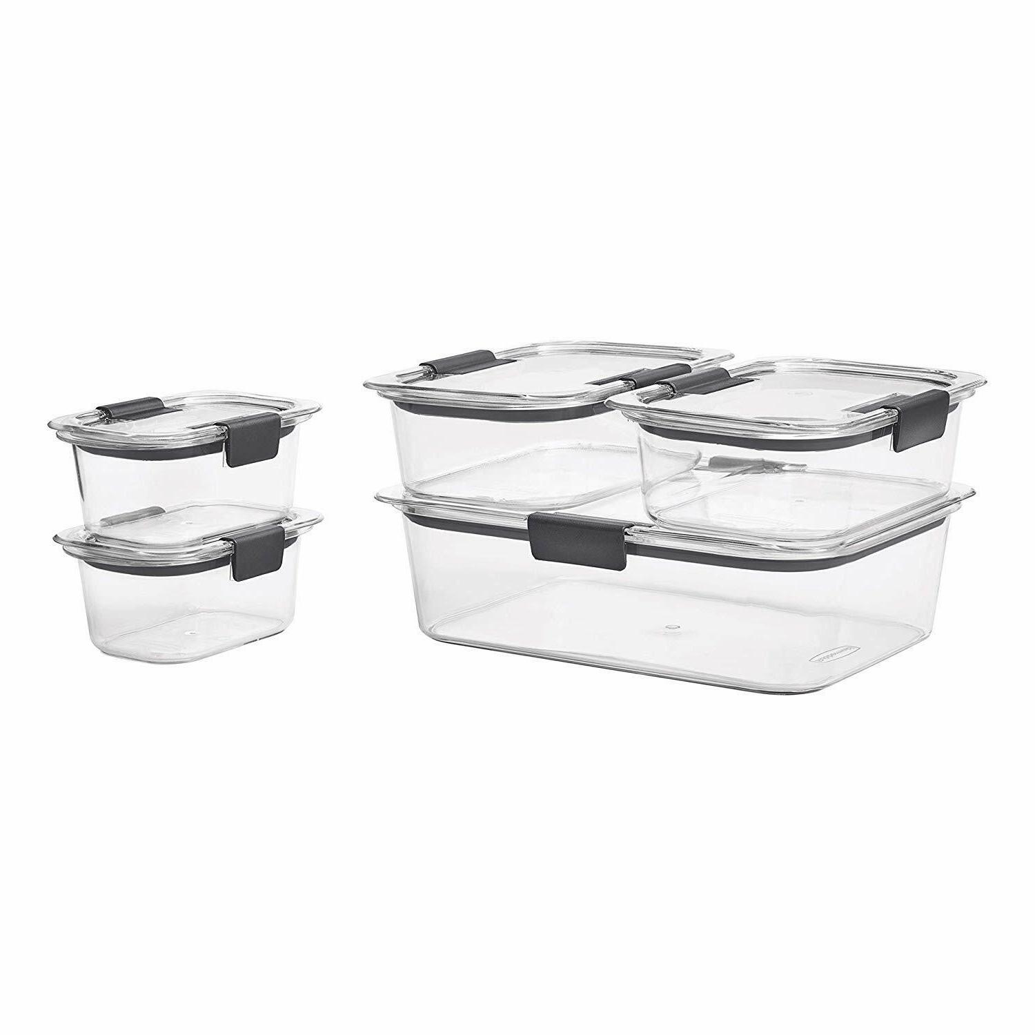 Rubbermaid Brilliance Food Storage Containers with Lids