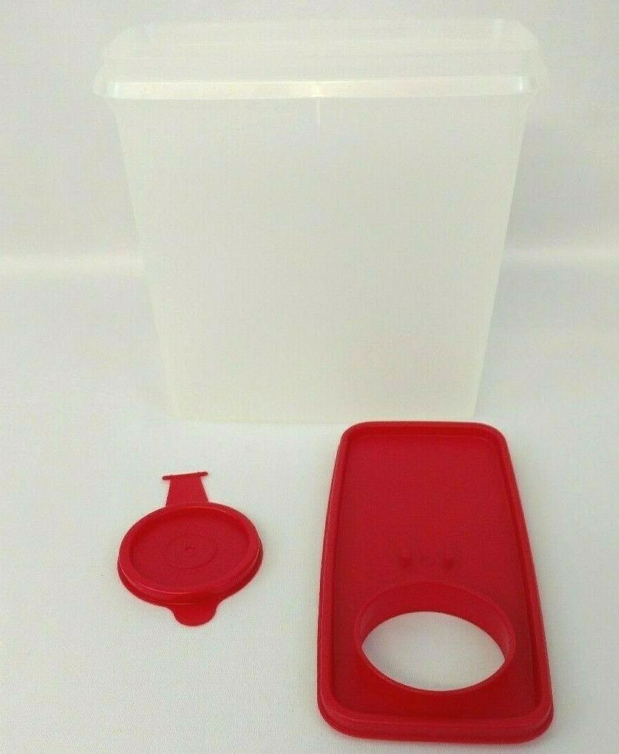 Tupperware Cereal Storer Food Cup Storage Container With A Red Pour