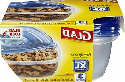 Glad Food - Family Sized - 104 3 Containers