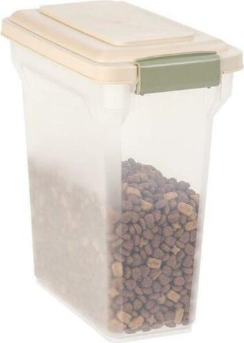 containers pet storage cat dog food iris