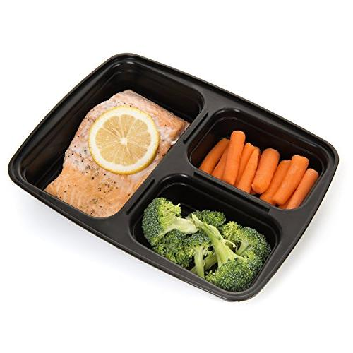 Meal Haven Compartment Food Airtight Lid, Box, Lunch Prep, 21 Day Fix and Portion of 14