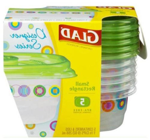 Glad Designer Series Rectangle Food Containers 78513