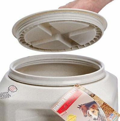 Dog Container Pet Cat Airtight Bin Fresh Vittles Seal