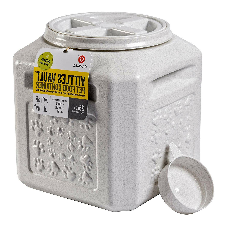 Dog Storage Vault Container Bin Fresh Vittles 15-25lb Seal