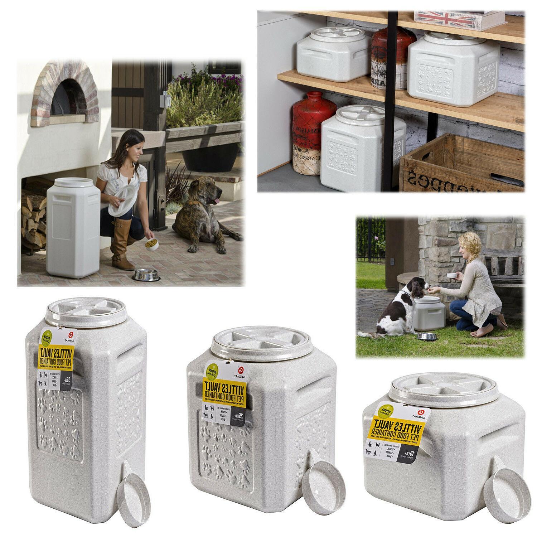 dog food storage vault container pet cat