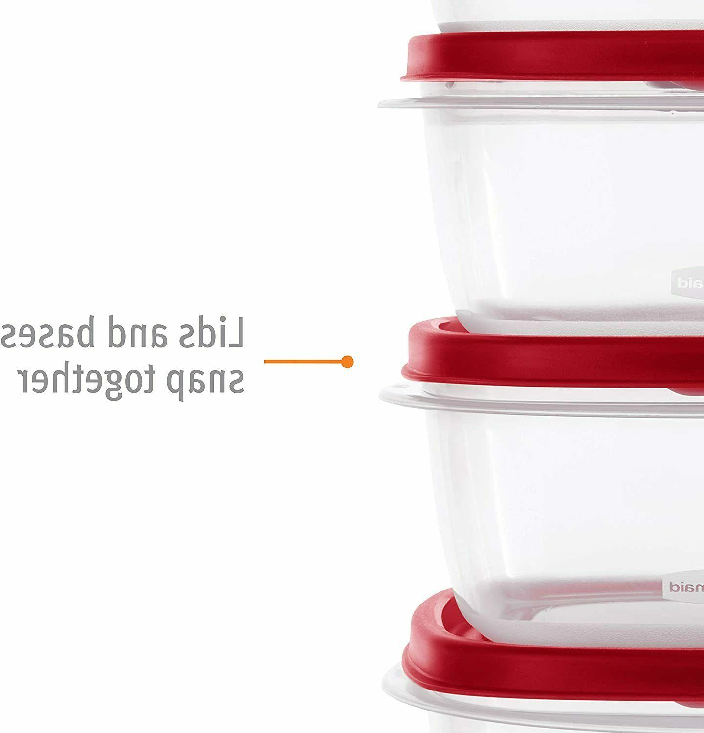 Rubbermaid Easy Vented Lids Food Set of 21 (42 Pieces T