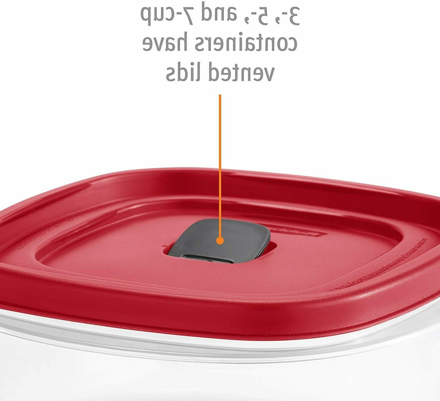 Rubbermaid Easy Vented Lids Food Set 21 (42 Pieces