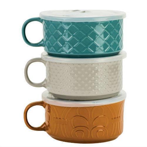 embossed 22 oz souper bowl mug