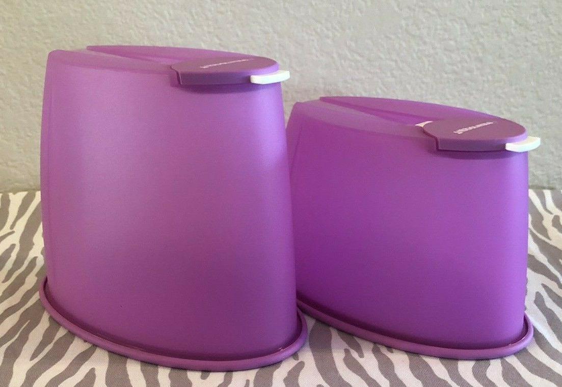 Tupperware Dry Food Keeper Keeper Purple
